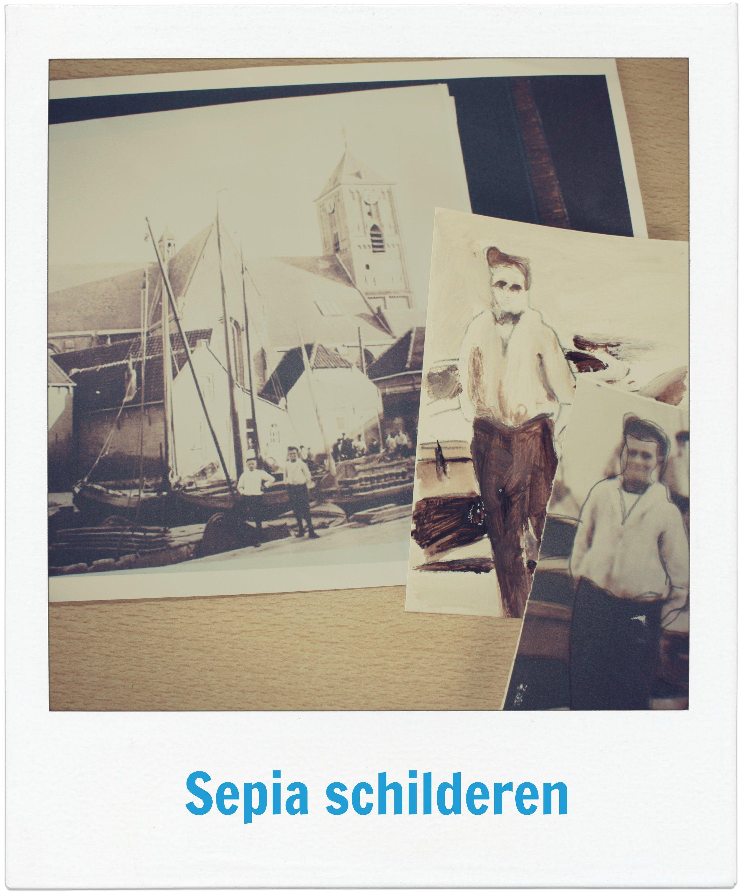 Historische kunstwerken maak je zelf met de sepia workshop